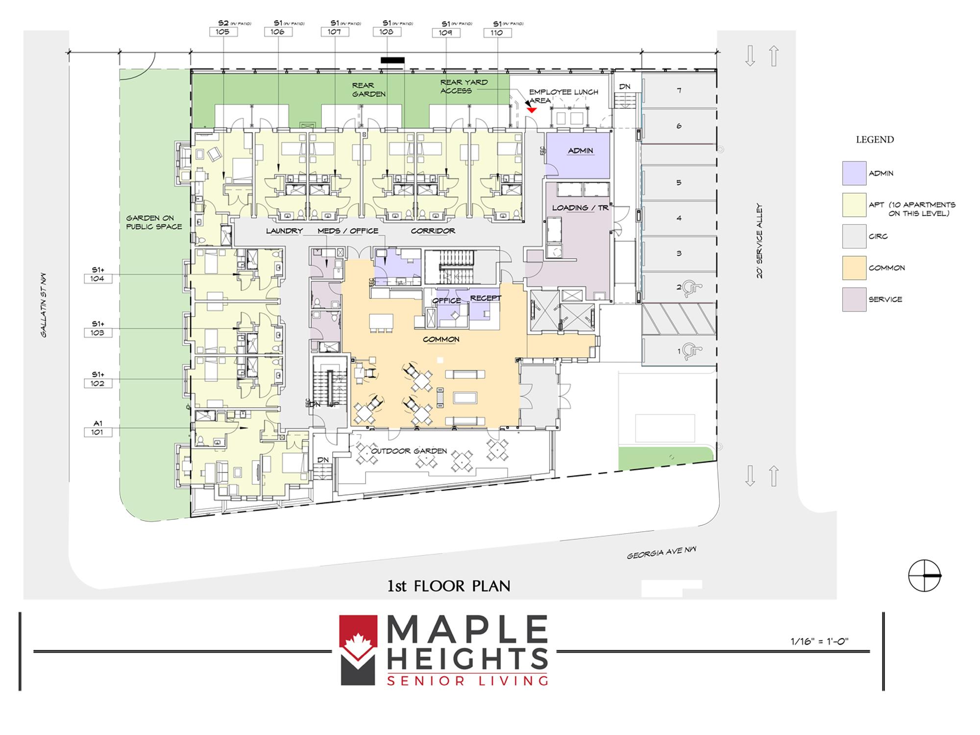 Washington DC Senior Living Floor Plan 1st Floor