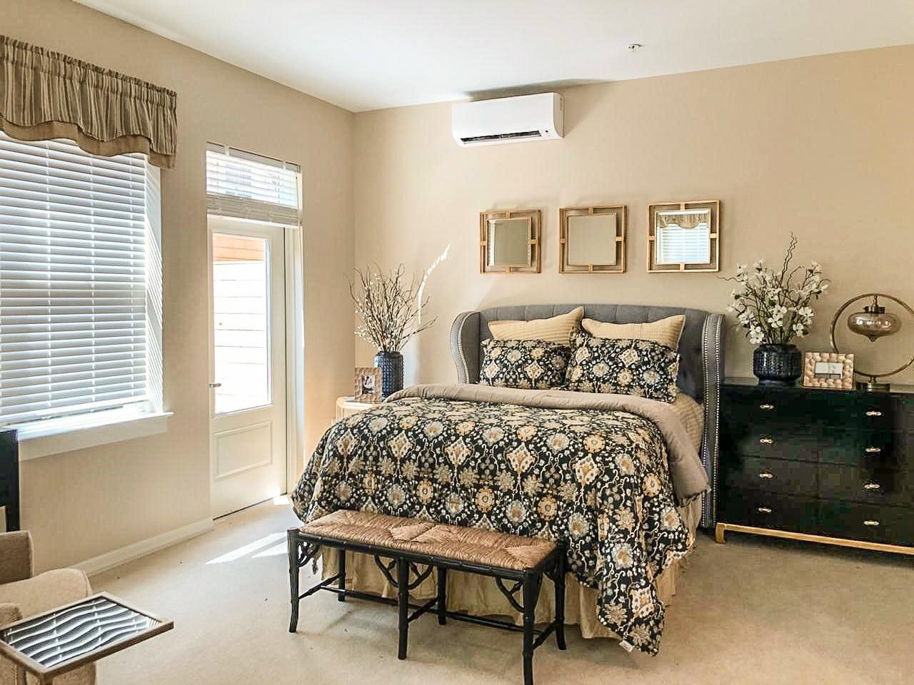 Washington DC Senior Living facility model bedroom